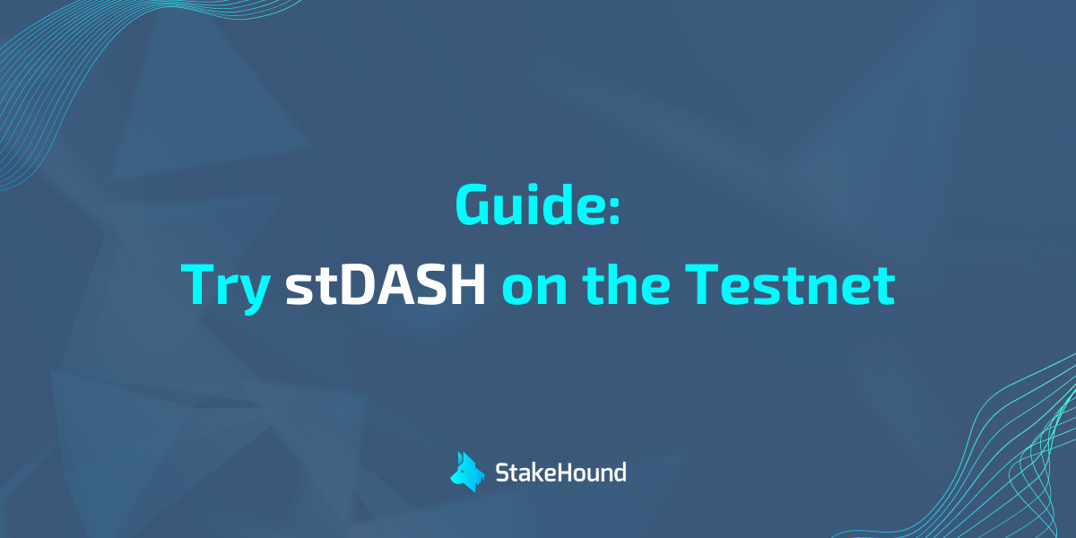 How to try stDASH on Uniswap [testnet]
